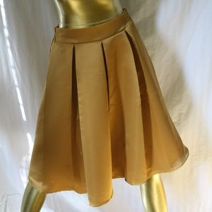 Business Casual Pleated Knee Length Skirt
